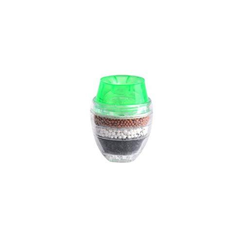 Wcorrisponde - Rubinetto per acqua a carbone attivo purificatore d'acqua a 5 strati, per ugelli da 16 a 19 mm, cartuccia filtrante purificatore per cucina, casa, bagno, verde