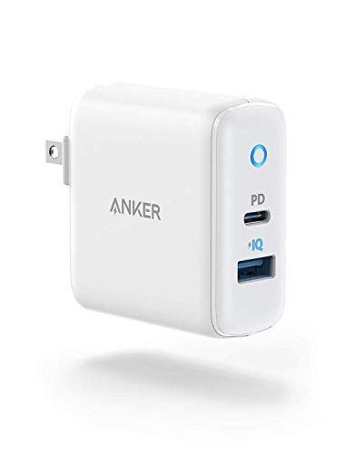 iPhone 12 Charger, Anker 30W 2 Port Fast Charger with 18W USB C Power Adapter, Foldable PowerPort PD 2 for, iPhone 12/12 Mini / 12 Pro / 12 Pro Max / 11 / X/XR/XS, iPad Pro, Pixel, Galaxy