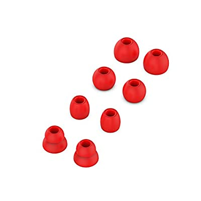 Replacement Silicone Ear Tips Earbuds Buds Set Compatible with Beats by dr dre Powerbeats Pro Wireless Earphones (Red) by Auoneday