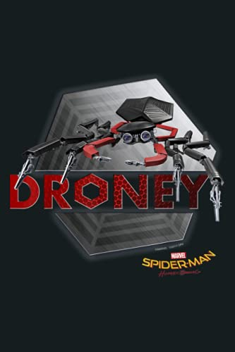 Marvel Spider Man Homecoming Droney Metalic Graphic: Notebook Planner - 6x9 inch Daily Planner Journal, To Do List Notebook, Daily Organizer, 114 Pages