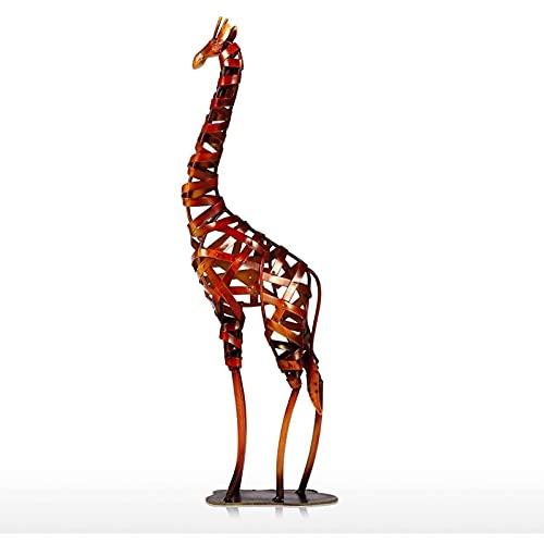 Hengqiyuan Giraffenskulptur, Giraffenmetallskulptur Eisen gewebt Giraffenverzierung für Häuserdekoration,6.2 * 2.7 * 20inch