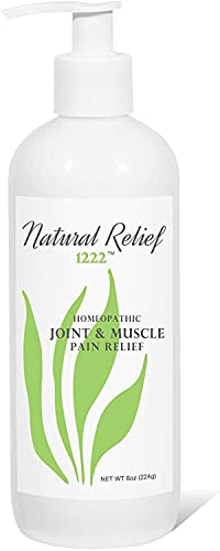 Natural Relief 1222 Relieves Chronic Muscle Pain, Joint Pain, Knee Pain, Back Pain, Finger Pain, Foot Pain & Inflammation Due to Arthritis or Injury 8oz