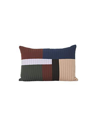 Ferm Living - Shay Quilt kussen, 60 x 40 cm, kaneel