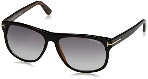 Tom Ford Herren FT0236 05B 58 Sonnenbrille, Schwarz (Nero/Altro/Fumo Grad)