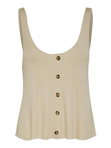 ONLY Womens ONLMINKO S/L Rib NOOS JRS Top, Humus, XS