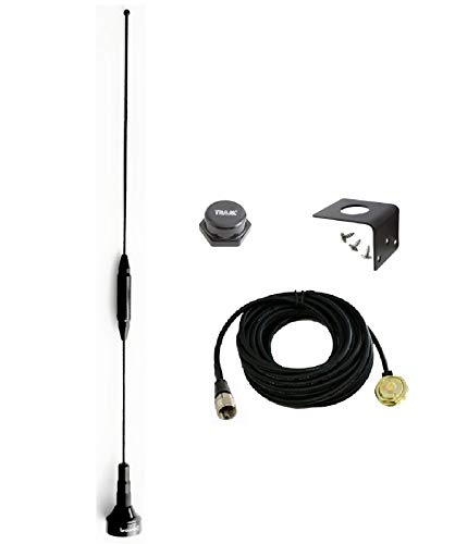 Long Distance Amateur Dual-Band Marine NMO Antenna VHF 140-170 & UHF 430-470 MHz for Mobile Radios 2 Meter 70 Centimeters w/PL-259 UHF Mount BR-179 1250
