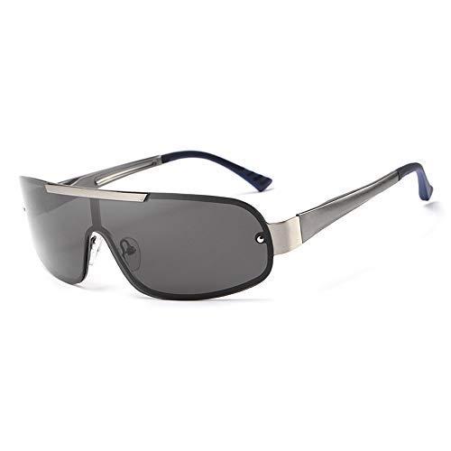 Yeeseu Pesca gafas de sol for hombre de las gafas de sol de conducción al aire libre Correr protección UV Deportes gafas polarizadas clásico de la manera gafas de moda (Color: Negro, Tamaño: Libre) Ci