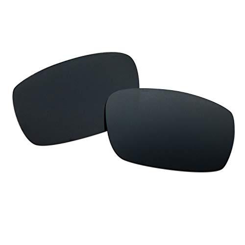 SOODASE Para Oakley Crankshaft Gafas de sol Negro Lentes de repuesto polarizadas