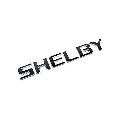 Emblema Shelby para Ford Mustang cromo con negro repuesto