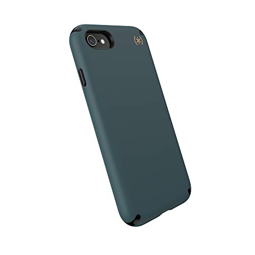 Speck Products Presidio2 PRO Case, Compatible with iPhone SE (2020)/iPhone 8/iPhone 7, Terrain Green/Black/Caramel Brown (136209-9145)