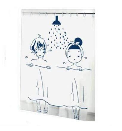 EM HOME Cortinas de Ducha, para baño, bañera, Impermeable, Resistente al Moho, Anti Moho y Impermeables | 100% Polyester (M)