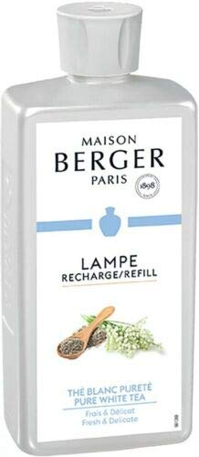 Pure White Tea | Lampe Berger Fragrance Refill for Home Fragrance Oil Diffuser | Purifying and perfuming Your Home | 33.8 Fluid Ounces - 1 Liter | Made in France