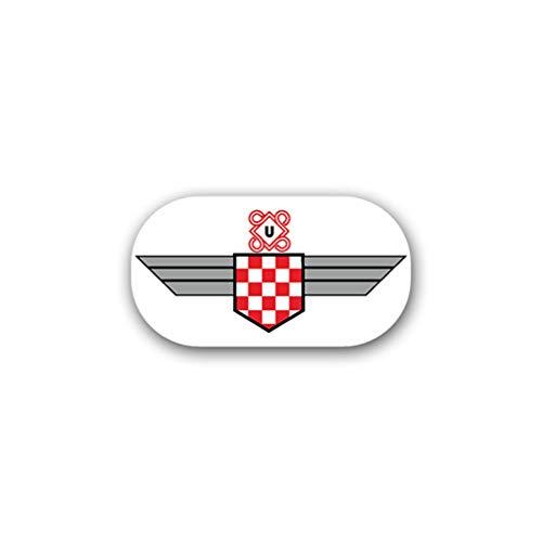 Aufkleber/Sticker 15 Kroat JG52 Jagdgeschwader Luftwaffe Kroatien 13x7cm A1777