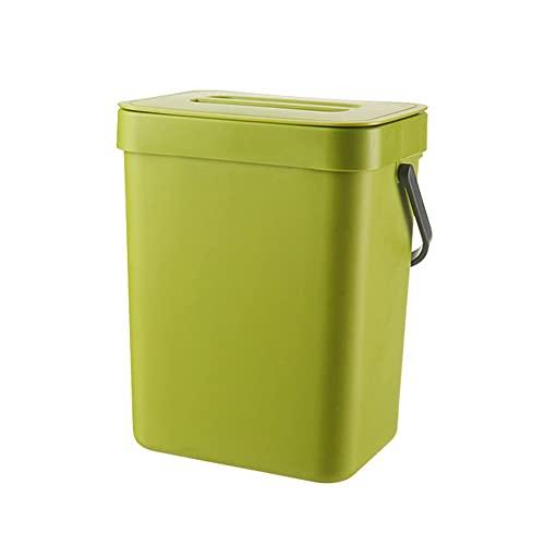 Bote de basura de plástico con tapa, bolsa de basura sin perforaciones montada en la pared, cubo doméstico para baño, gabinete de cocina