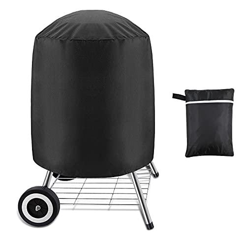 Victarvos Copertura Rotondo per Barbecue a Carbonella, Telo Copri Barbecue Impermeabile, Copertura Standard per Barbecue 57 cm