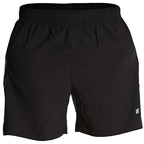 Fort Isle Men's Running Shorts - L - Black - Quick Dry Breathable - Gym, Workout, Yoga, Training