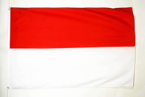 AZ FLAG Flagge Monaco 150x90cm - MONEGASSISCHE Fahne 90 x 150 cm feiner Polyester - flaggen