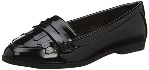 New Look Damen Wide Foot James Slipper, Schwarz (Black 1), 38 EU