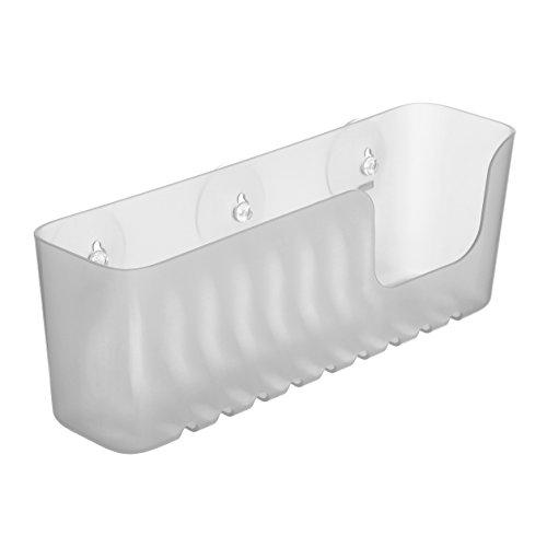 TATAY 4520202 - Gran cesta organizadora de ducha con ventosas, capacidad para 2.5 kg, Plástico Polipropileno, Color glacé, 30 x 9.5 x 11cm