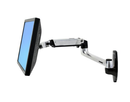 Ergotron – LX Wall Monitor Arm – 25-Inch Extension, Polished Aluminum