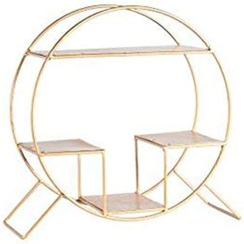 Willesego Wandregal Kreative Einfache Schreibtischgestelle Mode Einrichtungsgegenst e Kreative Cafe Display Rack Retro Eisen Lagerregal Golden schwarz (Farbe  Schwarz (Farbe   Gold, Größe   -)