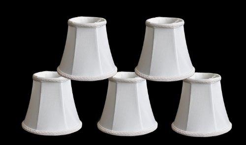 Urbanest Set of 5 Chandelier Lamp Shades, 3x5x4.5