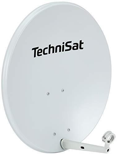 TechniSat TECHNITENNE 70 - Satellitenschüssel (70 cm digital Sat Anlage, Antenne mit Masthalterung, vorbereitet für die Aufnahme eines 40 mm LNB) lichtgrau