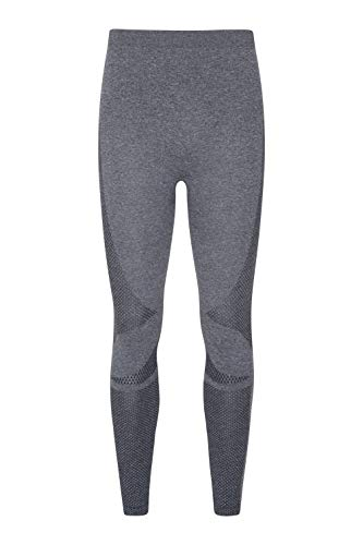 Mountain Warehouse Off Piste Herren Nahtlos Thermohose Unterhose Leggings Funktionshose Funktionsunterwäsche Thermounterwäsche Ski Snowboard, Winter Dunkelgrau XS-S