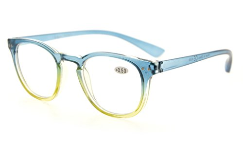 Eyekepper Fashion Readers Womens Reading Glasses (Blue-Yellow Frame, 1.00)