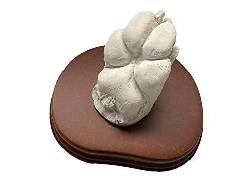 MOLDEARTEBABY UN RECUERDO INOLVIDABLE Escultura de Manos en 3D (hasta 2 Patas (con Peana), HuellaPerro)