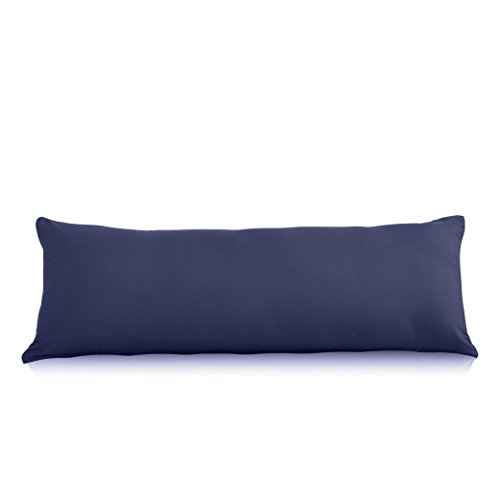 Evolive Ultra Soft Microfiber Body Pillow Cover/Pillowcases 21'x54' with Hidden Zipper Closure (Navy, Body Pillow Cover 21'x54')