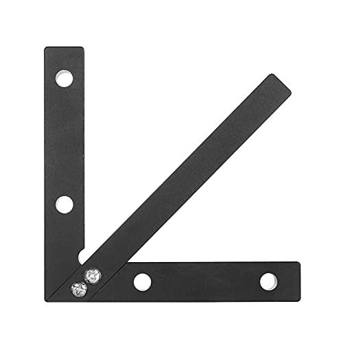Buscador de centros Cuadrado Herramienta de medición de trazador central 45/90 grados Calibre de línea en ángulo recto Regla de carpintero Aleación de aluminio Carpintería Regla de carpintero C