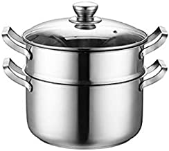 ZYSWP Stock Pot Stainless Steel Pot Household Gas Cooking Pot Induction Cooker General Thickening Steamer