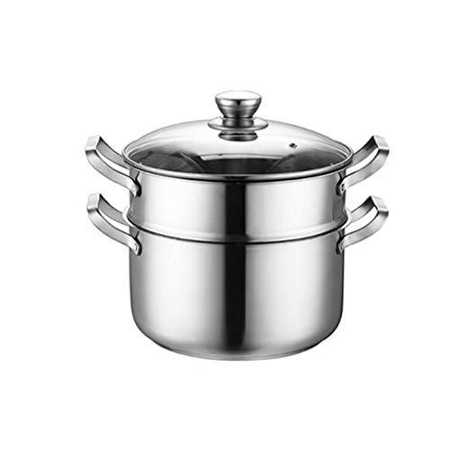 ZLDGYG De la Olla de Acero Inoxidable Olla de Gas doméstico Que Cocina la Cocina de inducción General Engrosamiento Vapor