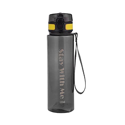 ZENING Botella de agua deportiva taza de agua, 620 ml, taza deportiva portátil con escala espacial, gran capacidad, para beber agua, para el hogar, al aire libre, camping