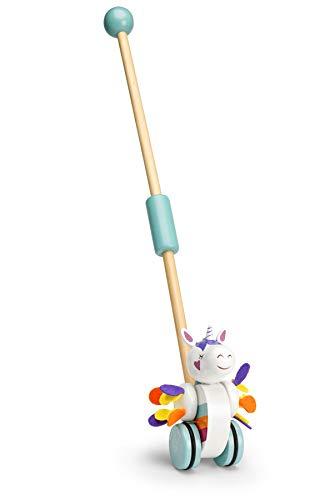 Mousehouse Gifts - Jouet à tirer/pousser - licorne - bois - pour bébé/enfant