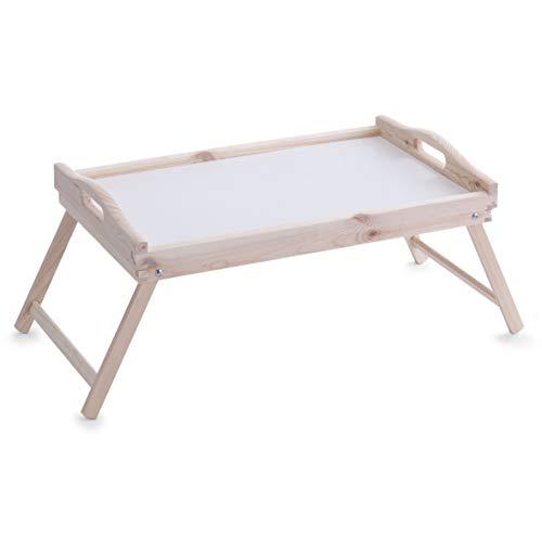Zeller 24038 Plateau pour Petit-Déjeuner au lit en pit, 51 x 32 x 25 cm