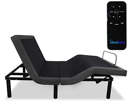 iDealBed 3i Custom Adjustable Bed Base, Wireless, Zero Gravity, One Touch Comfort Positions, Programmable Memory, Advanced Smooth Silent Operation (TwinXL)