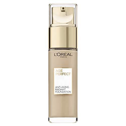 L'Oréal Paris Age Perfect Feuchtigkeitsspendendes Make-up in Nr. 130 ivoire dore, für reife Haut und einen strahlenden Teint, mit LSF 17, 30 ml