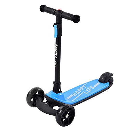 HDZW Niños Scooter Ajustable Altura Portátil Portátil Triciclo Balance de Coches Bicicleta Regalos de Juguete para niños adecuados para niños de 3 a 8 años 4.22 (Color : Blue)