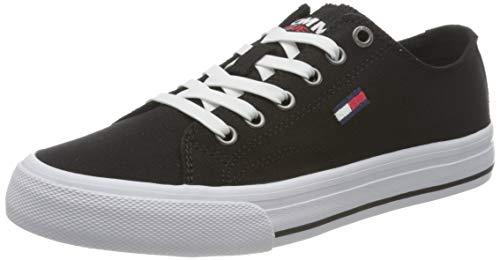 Tommy Jeans Low Cut Vulc, Zapatillas Mujer, Negro, 35 EU