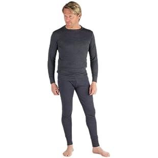 2 Mens Thermal Set Long Sleeve Vest and Long Johns:Ege17ru