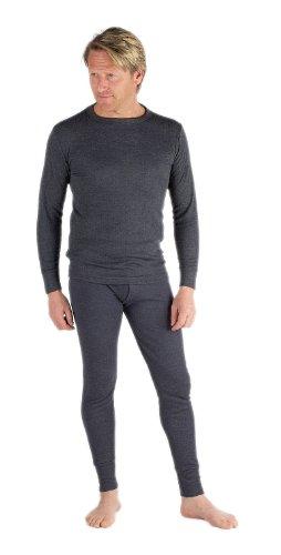 Socks Uwear Ensemble de sous-vêtements thermiques avec haut à manches longues et caleçon long pour homme - Gris - X-Large