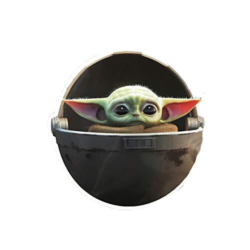 BIRDEU Mandalorian Aufkleber Yoda Cosplay Kostüm Vinyl wasserdicht Stickers Abziehbild für Laptop, Autos, Kühlschrankaufkleber