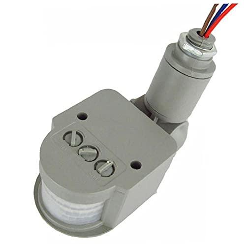 TOSSPER Interruptor del Sensor del Sensor De Movimiento 1pc 250v De Movimiento Infrarrojo Automático Pir 180 Grados De Rotación Aire Libre Reloj De Luz
