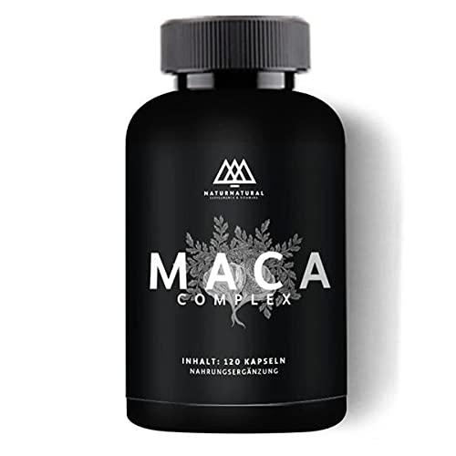 BIO Maca Kapseln - 120 Stück - 2 Monate - Maca-Wurzel Extrakt veganer Premium Maca Komplex in Bio-Qualität gemahlener Maca-Wurzel Extrakt Nahrungsergänzung aus Deutschland
