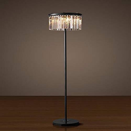 Xcwsmdq Lámpara de Piso Lámpara de Piso de Cristal Gris Ahumado/Transparente Simple y de la habitación Luz de Estudio Luz de Escritorio Luz de Piso Creativo decoración (Lampshade Color : Clear)