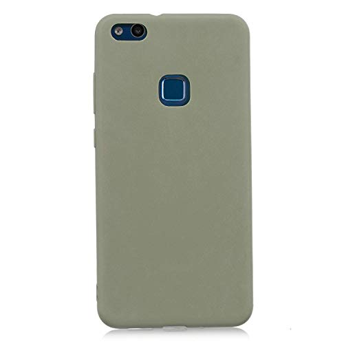 cuzz Funda para Huawei P10 Lite+{Protector de Pantalla de Vidrio Templado} Carcasa Silicona Suave Gel Rasguño y Resistente Teléfono Móvil Cover-Matcha