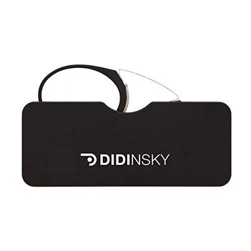DIDINSKY Lesebrille für Damen und Herren Transparent. Kompakte leichte randlose brillen. Brillengestelle für damen und herren. Lesehilfe Retro. Black +3.0 - ORSAY