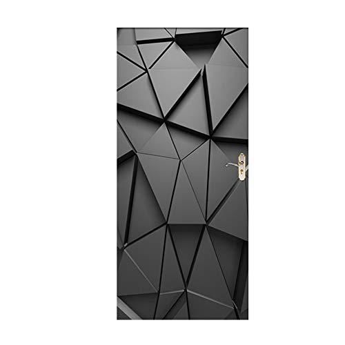 Trompe loeil porte Adh/ésif 141063 D/écoration Murale Polyvinyle Gris 83 x 0,1 x 204 cm